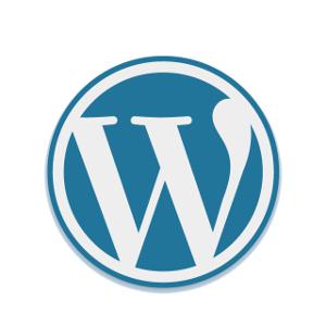 Blue WordPress logo